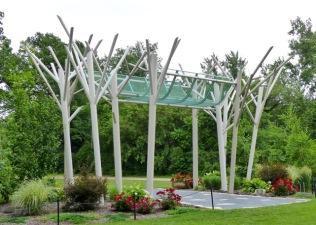 Birch Grove entrance into the Event Garden