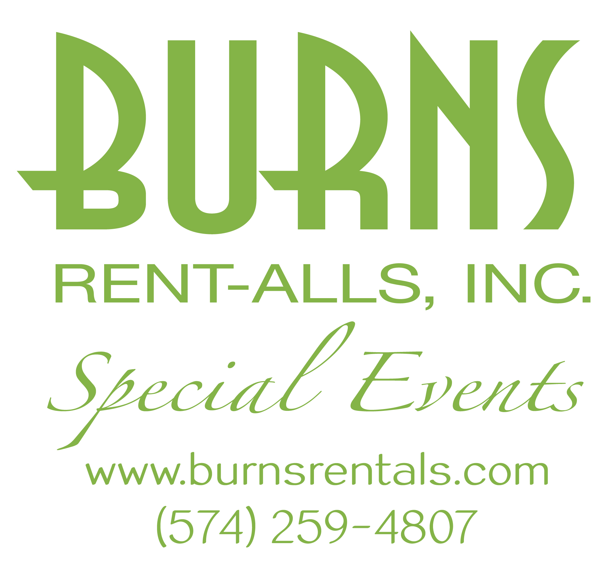 Burns Spec Events-GRN Logo with Web and Phone LG
