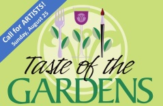 Taste Logo with Banner Call for Artists Aug 25, 2019