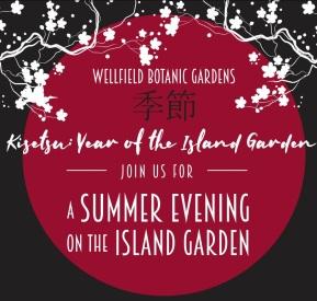 A Summer Evening on the Island Garden logo